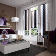 Plissee - Braunweiss - Wohnzimmer
