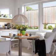 Plissee mit Streifen - Küche