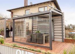 Terrassendach - In der Ausstellung