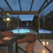 Terrassendach - Von Innen gesehen am Abend