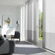 Flächenvorhänge - Einfach grau in Gästezimmer