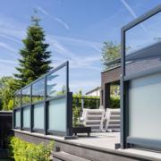 Verano Glastrennwand - Loggia Aufgang Aussenansicht
