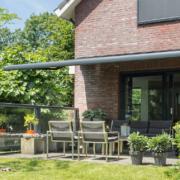 Verano Glastrennwand - Terrasse Ansicht von Aussen Rechts