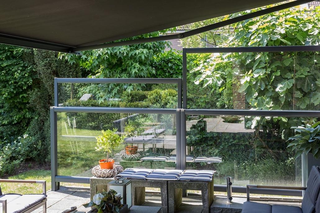 verano l deritz glasstrennwand bielenberg sonnenschutz. Black Bedroom Furniture Sets. Home Design Ideas