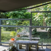 Verano Glastrennwand - Terrasse von innen nach Aussen