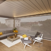Warema Lamaxa - Terrasse Innenansicht Geschlossen