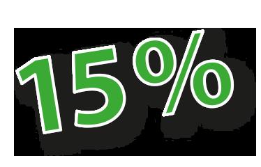 Frühling 15%
